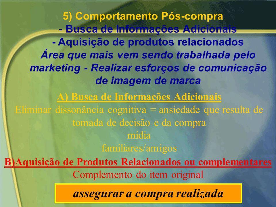 Decisão de Compra Nesse estágio o consumidor incorpora o conhecimento obtido com a busca de informação e faz a avaliação do produto e das alternativas