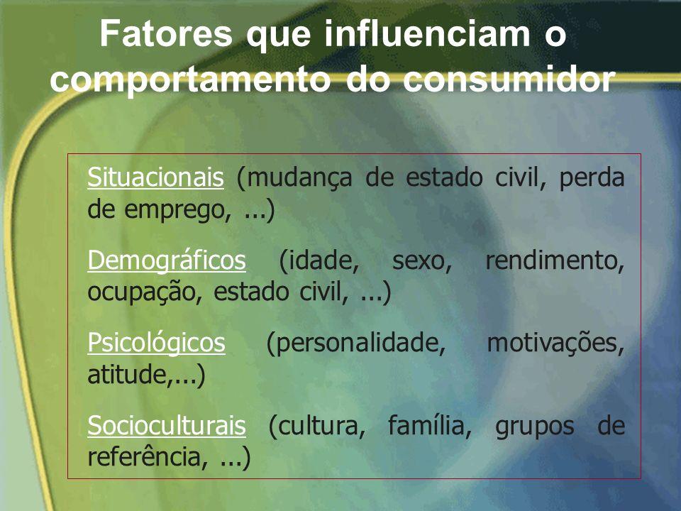 Comportamento do consumidor envolve a identificação e descrição dos consumidores, dos fatores que influenciam as suas decisões, dos intervenientes e d
