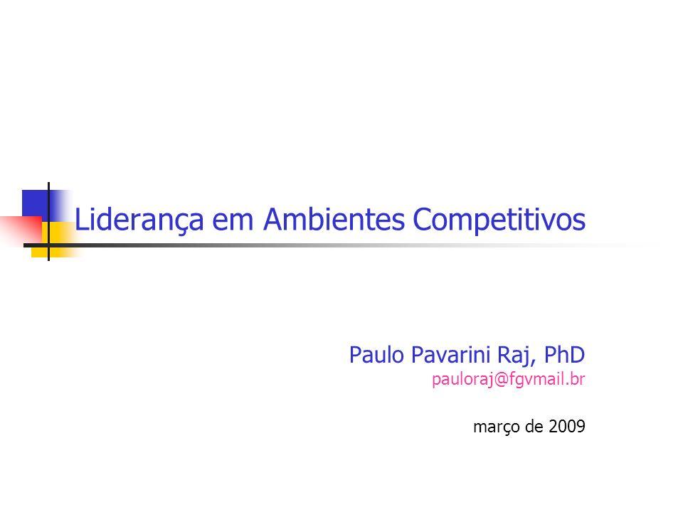 Liderança em Ambientes Competitivos Paulo Pavarini Raj, PhD pauloraj@fgvmail.br março de 2009