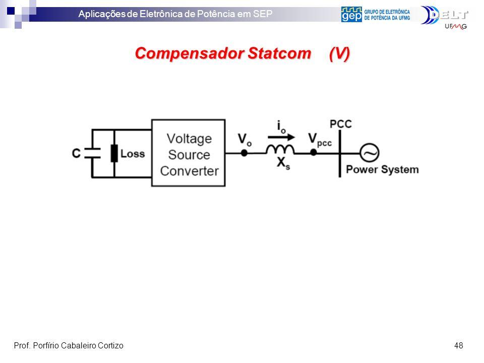 Aplicações de Eletrônica de Potência em SEP Prof. Porfírio Cabaleiro Cortizo 48 Compensador Statcom (V)