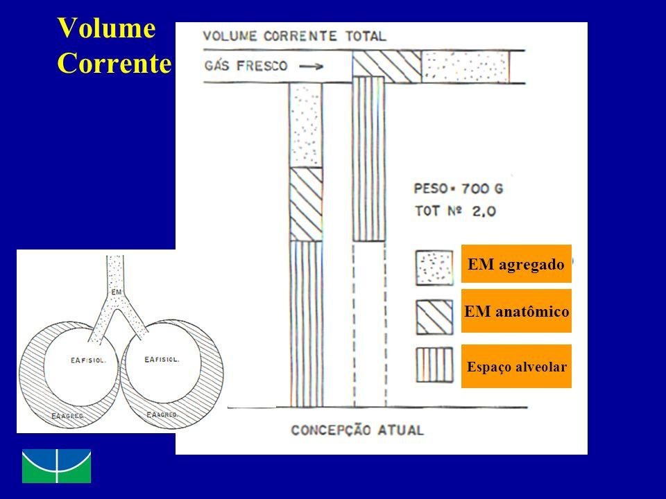 Volume Corrente EM agregado EM anatômico Espaço alveolar