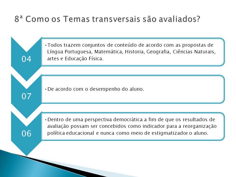 04 Todos trazem conjuntos de conteúdo de acordo com as propostas de Língua Portuguesa, Matemática, Historia, Geografia, Ciências Naturais, artes e Edu