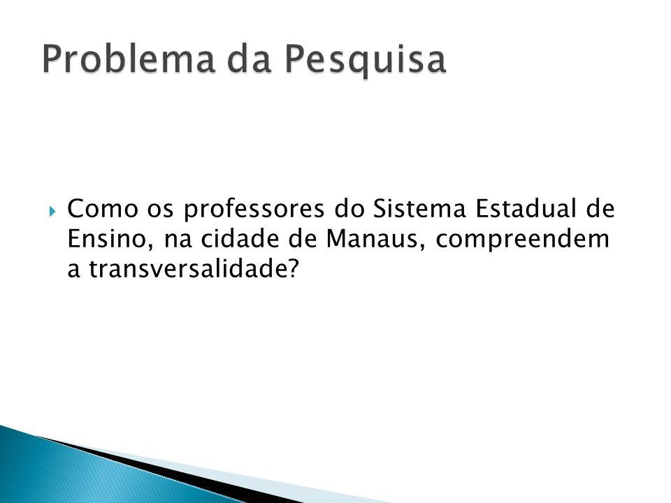 Geral: Investigar as concepções dos professores, do Sistema Estadual de Ensino, sobre a transversalidade.