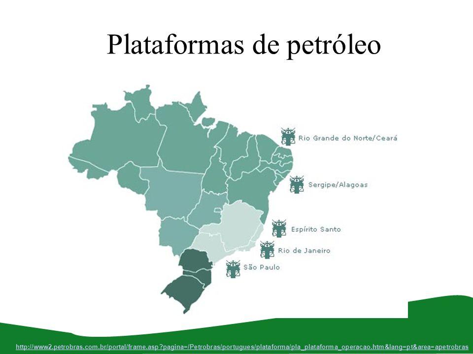 Plataformas de petróleo http://www2.petrobras.com.br/portal/frame.asp?pagina=/Petrobras/portugues/plataforma/pla_plataforma_operacao.htm&lang=pt&area=