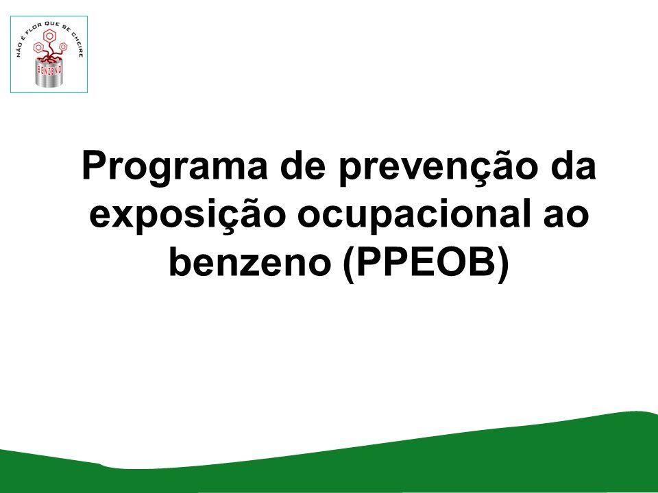 Programa de prevenção da exposição ocupacional ao benzeno (PPEOB)