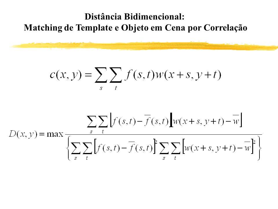 Distância Bidimencional: Matching de Template e Objeto em Cena por Correlação