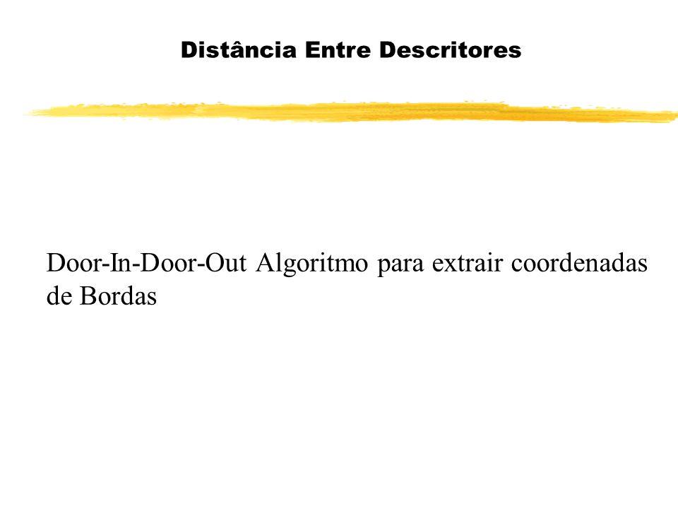 Door-In-Door-Out Algoritmo para extrair coordenadas de Bordas Distância Entre Descritores