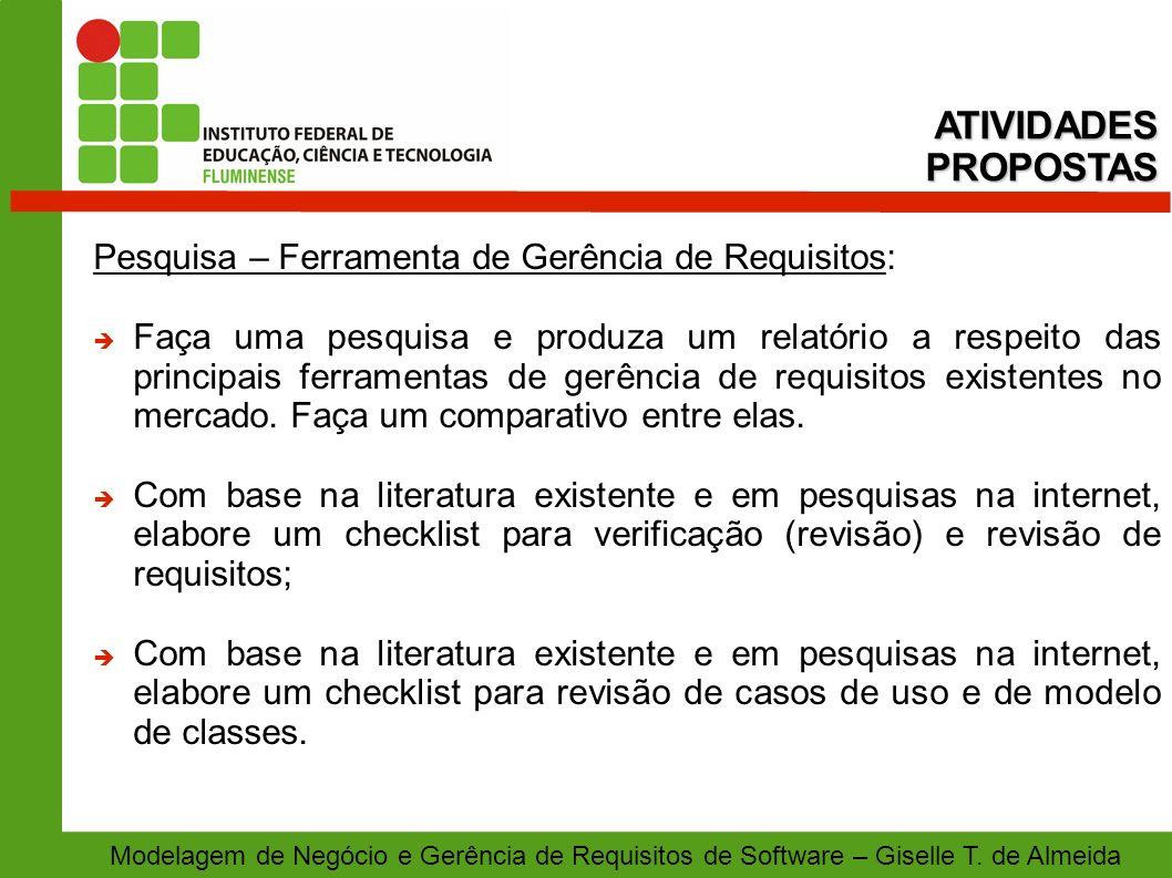 Pesquisa – Ferramenta de Gerência de Requisitos: Faça uma pesquisa e produza um relatório a respeito das principais ferramentas de gerência de requisi