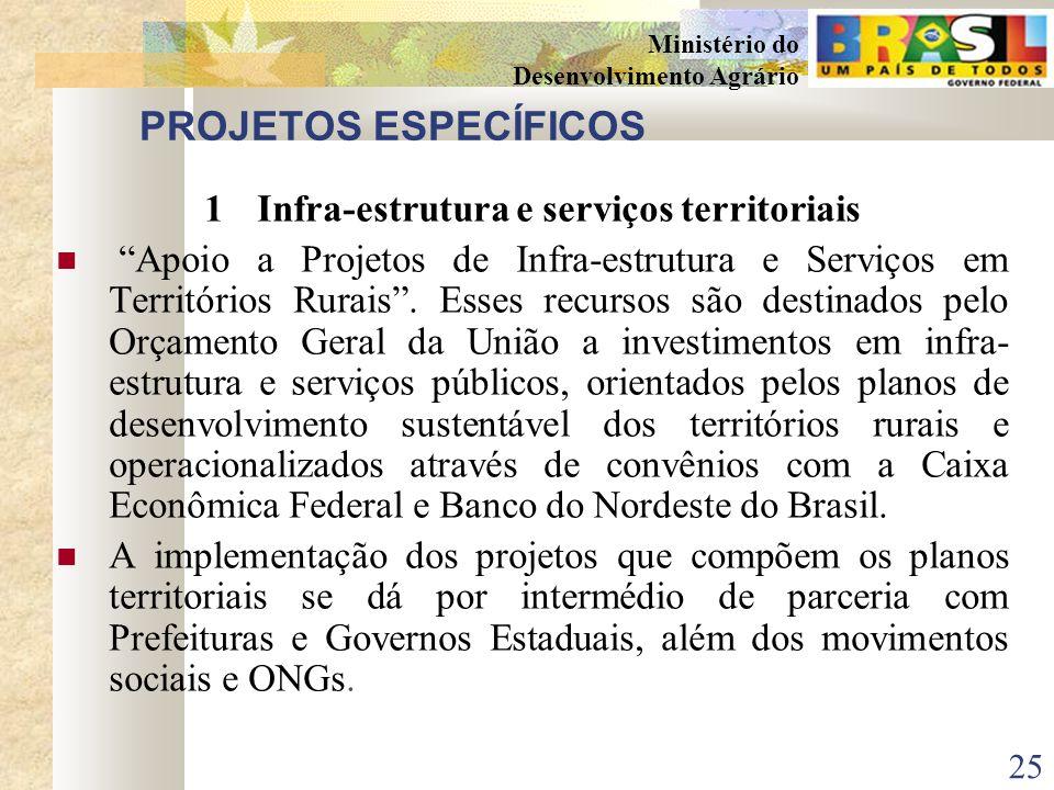 24 Ministério do Desenvolvimento Agrário RESULTADOS ESPERADOS 4ARTICULAÇÃO DE POLÍTICAS PÚBLICAS A articulação de políticas públicas é um grande desaf