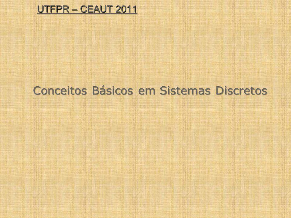 UTFPR – CEAUT 2011 Conceitos Básicos em Sistemas Discretos