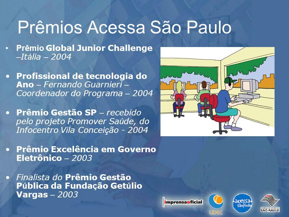Prêmio Global Junior Challenge – It á lia – 2004 Profissional de tecnologia do Ano – Fernando Guarnieri – Coordenador do Programa – 2004 Prêmio Gestão
