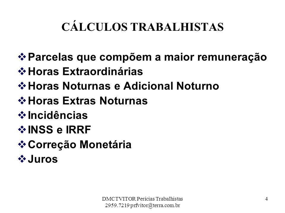 REFLEXOS Das Horas Extras, Noturnas e Extras Noturnas DSRs DSRs 121,42 x 04 = 18,68 h.