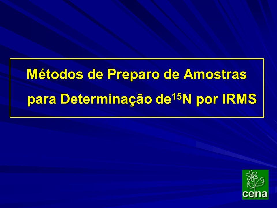 Métodos de Preparo de Amostras para Determinação de 15 N por IRMS