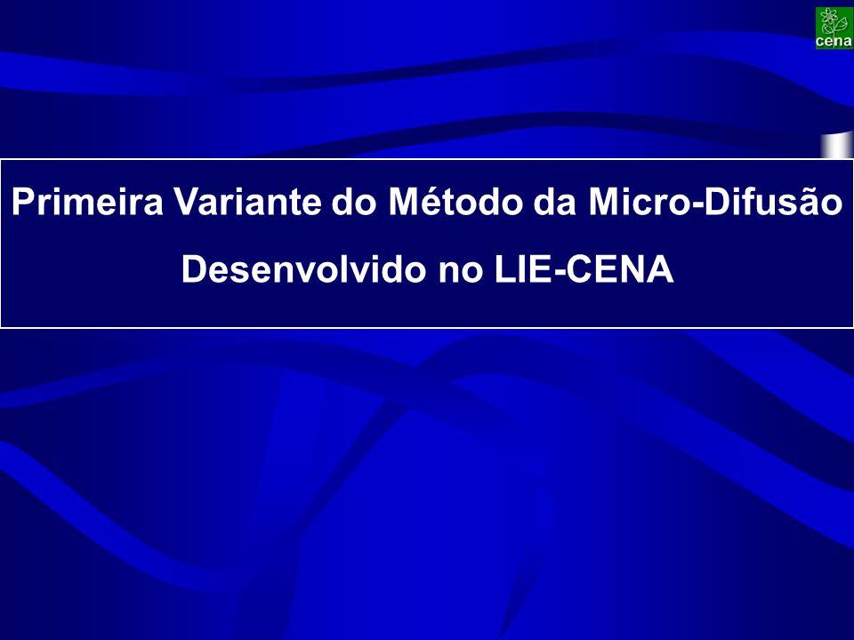 Primeira Variante do Método da Micro-Difusão Desenvolvido no LIE-CENA