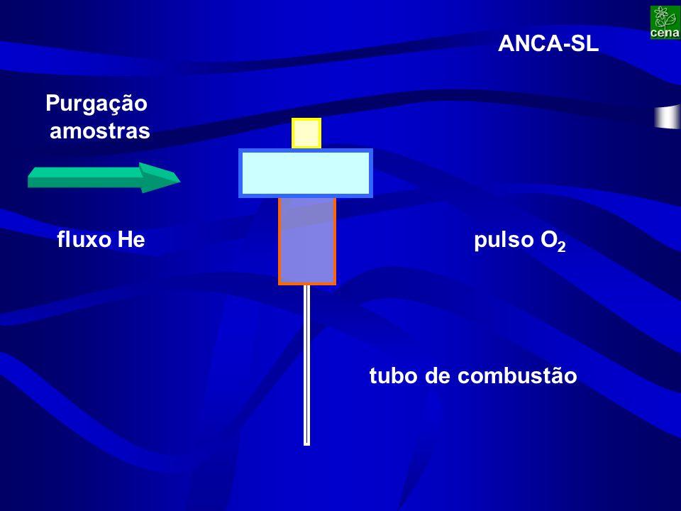 fluxo Hepulso O 2 Purgação amostras tubo de combustão ANCA-SL