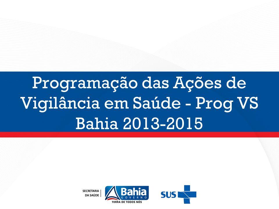Programação das Ações de Vigilância em Saúde - Prog VS Bahia 2013-2015
