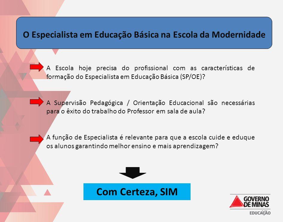 O Especialista em Educação Básica na Escola da Modernidade A Escola hoje precisa do profissional com as características de formação do Especialista em
