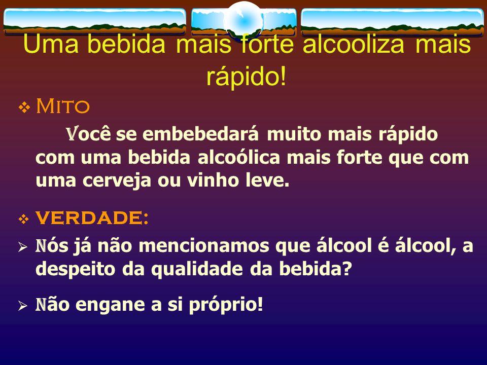 Todos reagem da mesma maneira ao álcool.