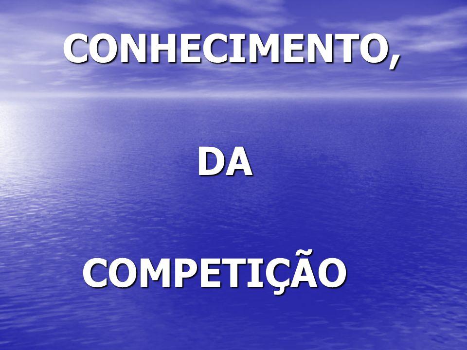 CONHECIMENTO, CONHECIMENTO, DA DA COMPETIÇÃO COMPETIÇÃO