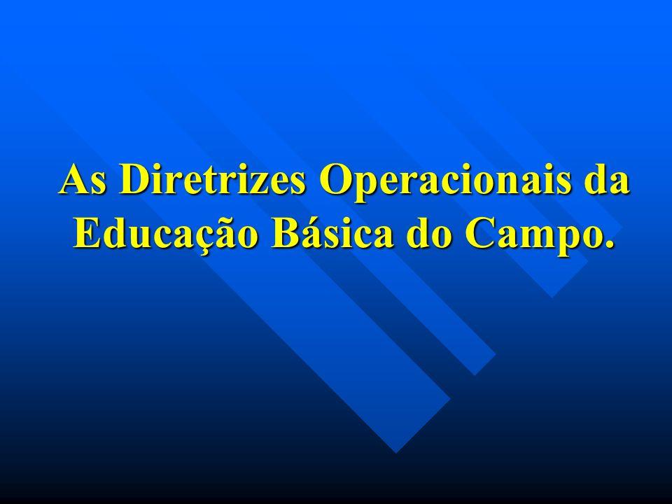 As Diretrizes Operacionais da Educação Básica do Campo.