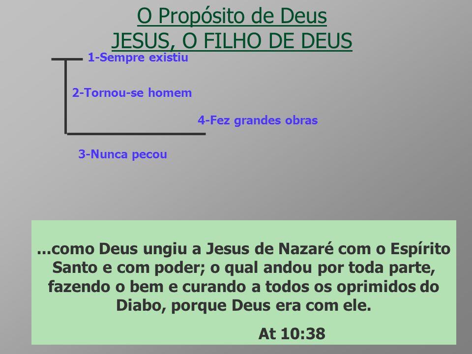 ETERNIDADE O Propósito de Deus PECADO Criaturas Gn 5:3 - Rm 3:10 a 12 Dt 32:5 Pecado Tg 1:14 e 15 Rm 5:12 Morte Rm 6:23 O que Deus fez ? Se Deus pensa