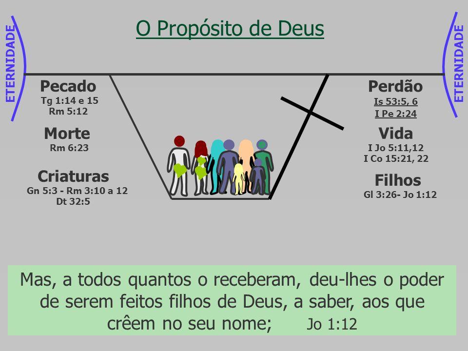 ETERNIDADE O Propósito de Deus Perdão Is 53:5, 6 I Pe 2:24 Mas ele foi traspassado pelas nossas transgressões, e moído pelas nossas iniqüidades; o cas