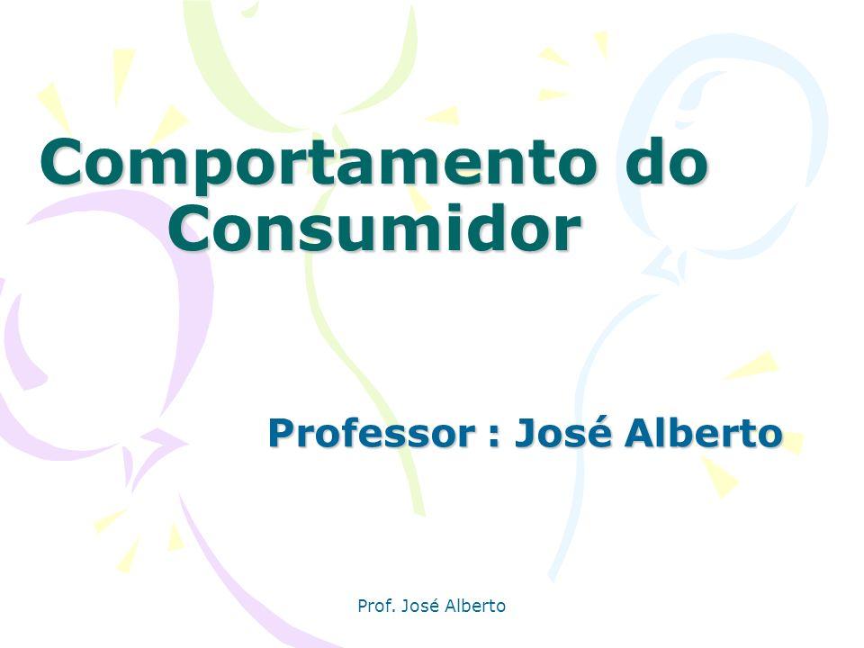 Prof. José Alberto Comportamento do Consumidor Professor : José Alberto