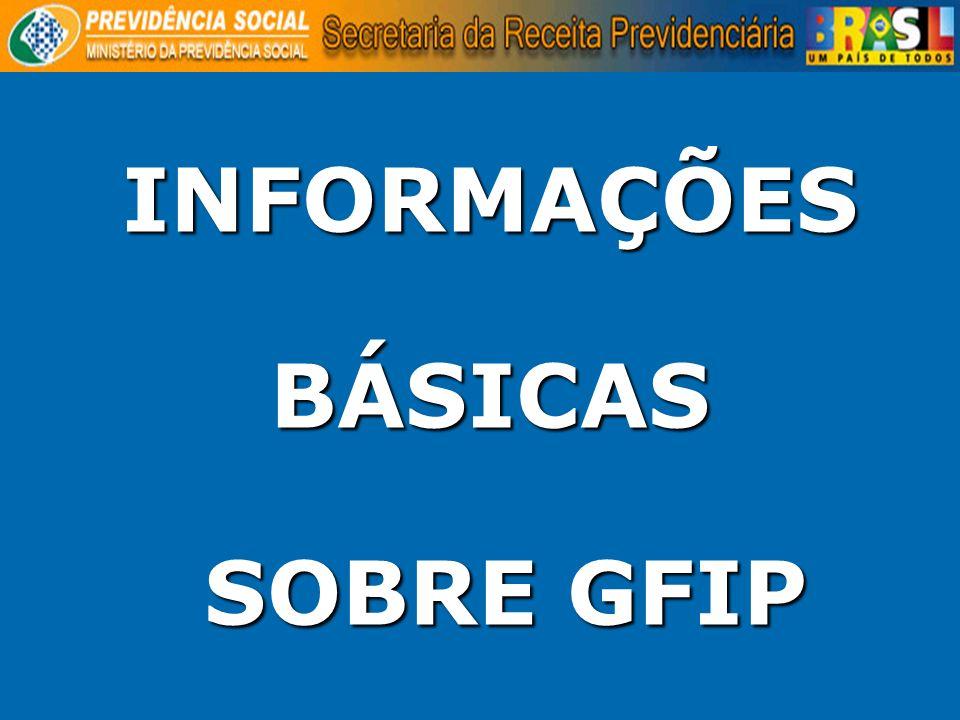 INFORMAÇÕES BÁSICAS SOBRE GFIP