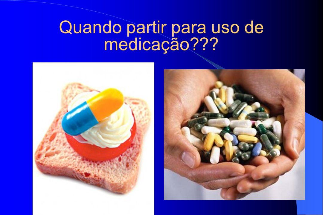 Quando partir para uso de medicação???