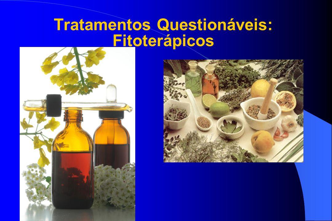Tratamentos Questionáveis: Fitoterápicos Multifarmácia Multifarmácia Fórmulas Fórmulas.