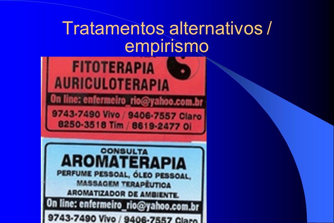 Tratamentos alternativos / empirismo