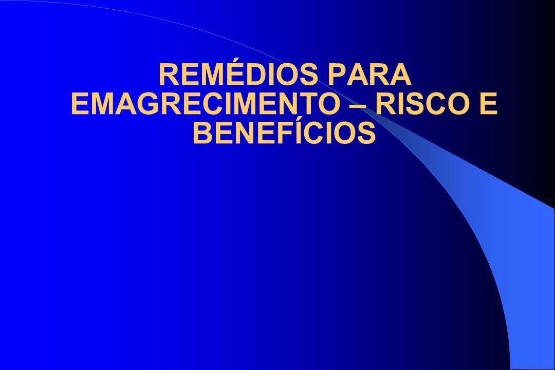 REMÉDIOS PARA EMAGRECIMENTO – RISCO E BENEFÍCIOS