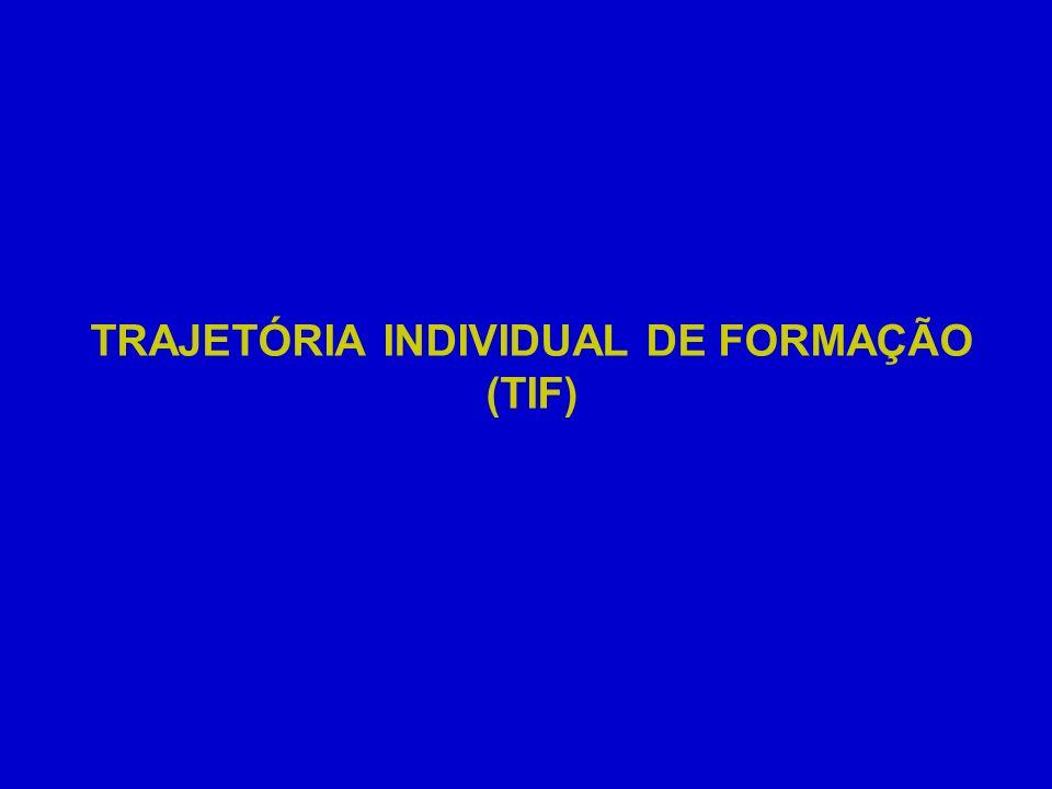 TRAJETÓRIA INDIVIDUAL DE FORMAÇÃO (TIF)