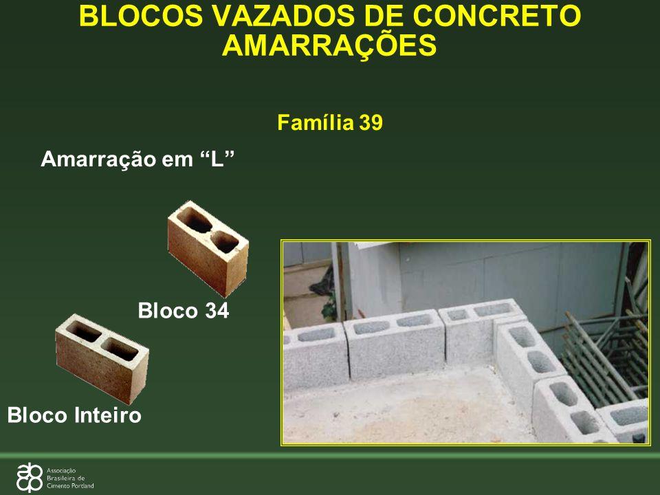 Amarração em L Bloco Inteiro Bloco 34 BLOCOS VAZADOS DE CONCRETO AMARRAÇÕES Família 39
