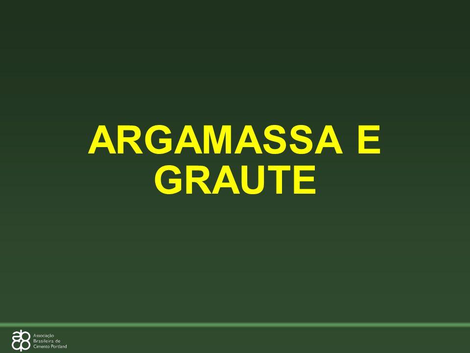 ARGAMASSA E GRAUTE
