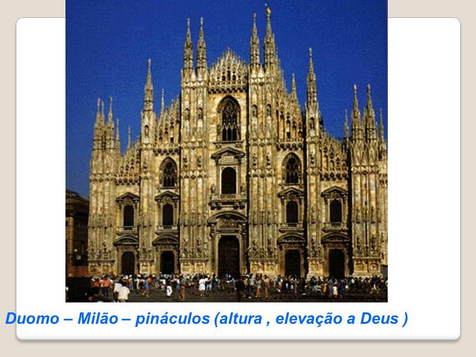 Duomo – Milão – pináculos (altura, elevação a Deus )