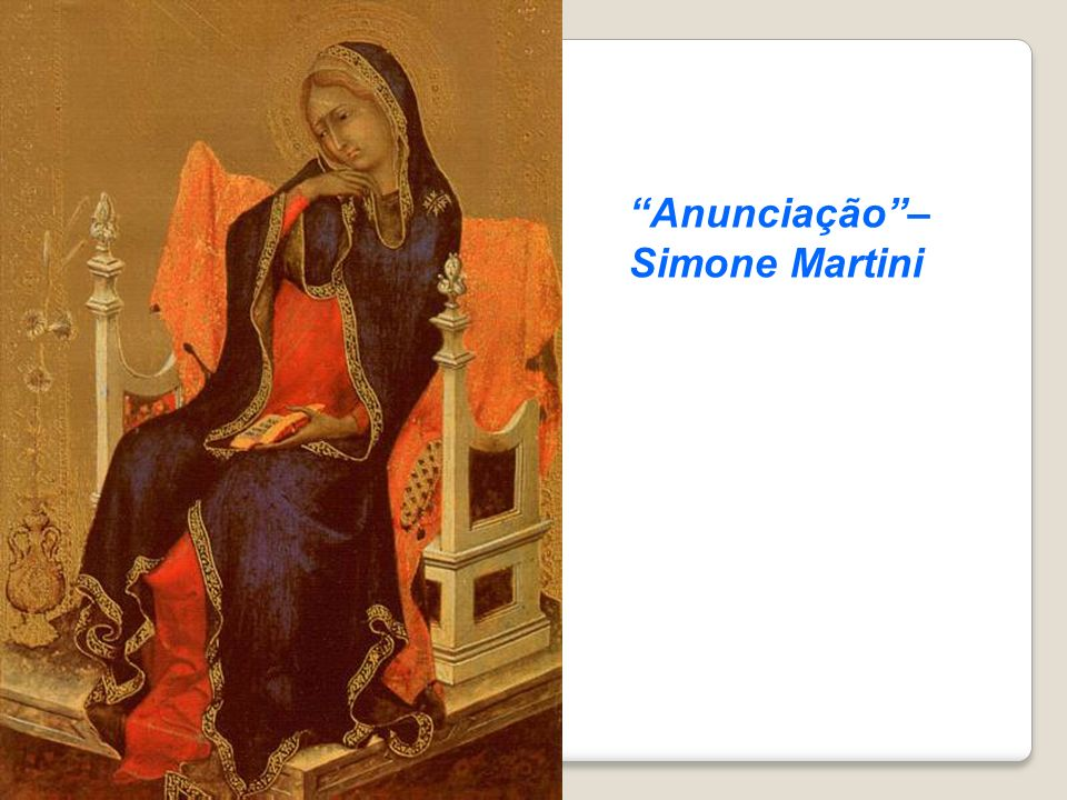 Anunciação– Simone Martini