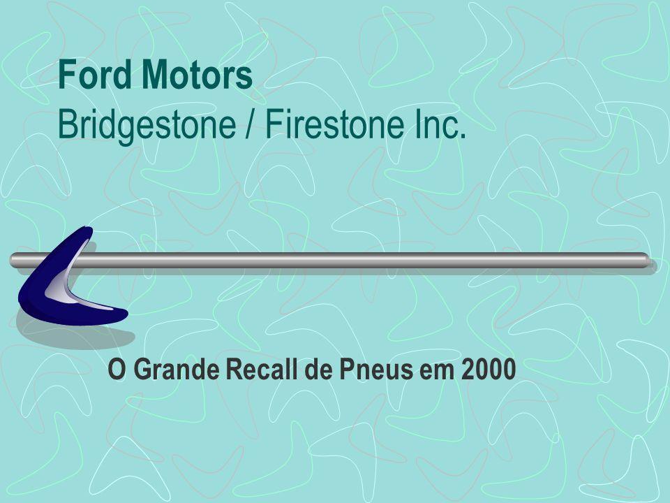 Ford Motors Bridgestone / Firestone Inc. O Grande Recall de Pneus em 2000