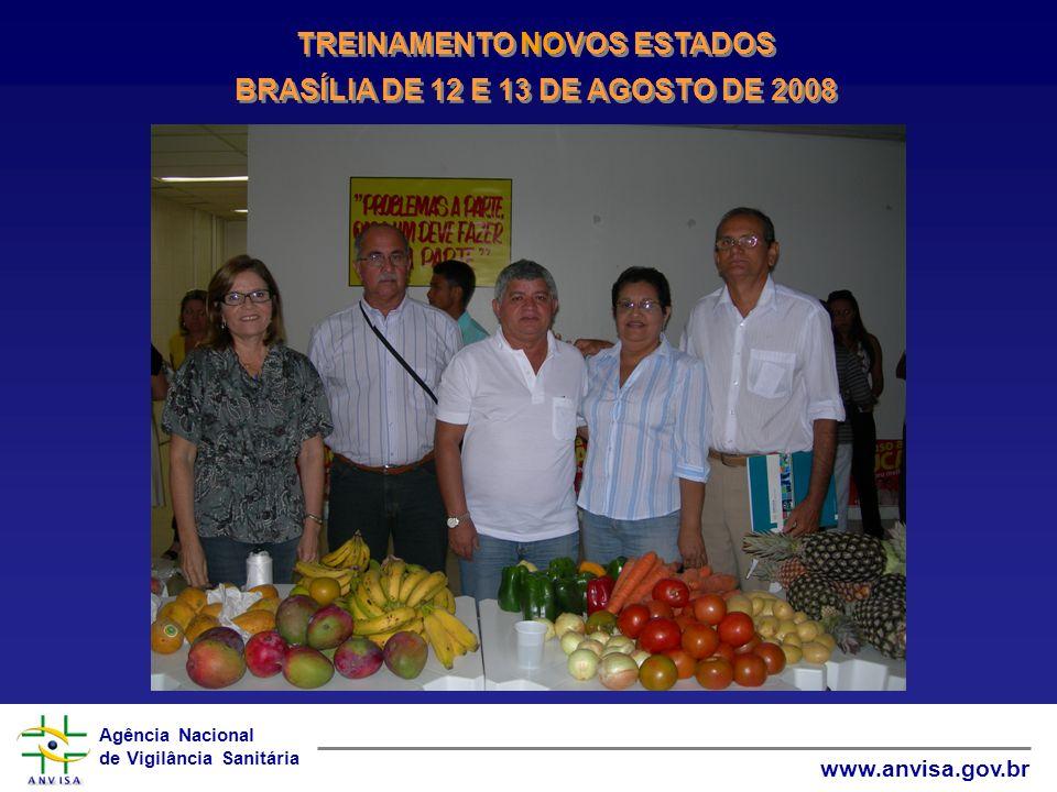 Agência Nacional de Vigilância Sanitária www.anvisa.gov.br TREINAMENTO NOVOS ESTADOS BRASÍLIA DE 12 E 13 DE AGOSTO DE 2008 TREINAMENTO NOVOS ESTADOS B