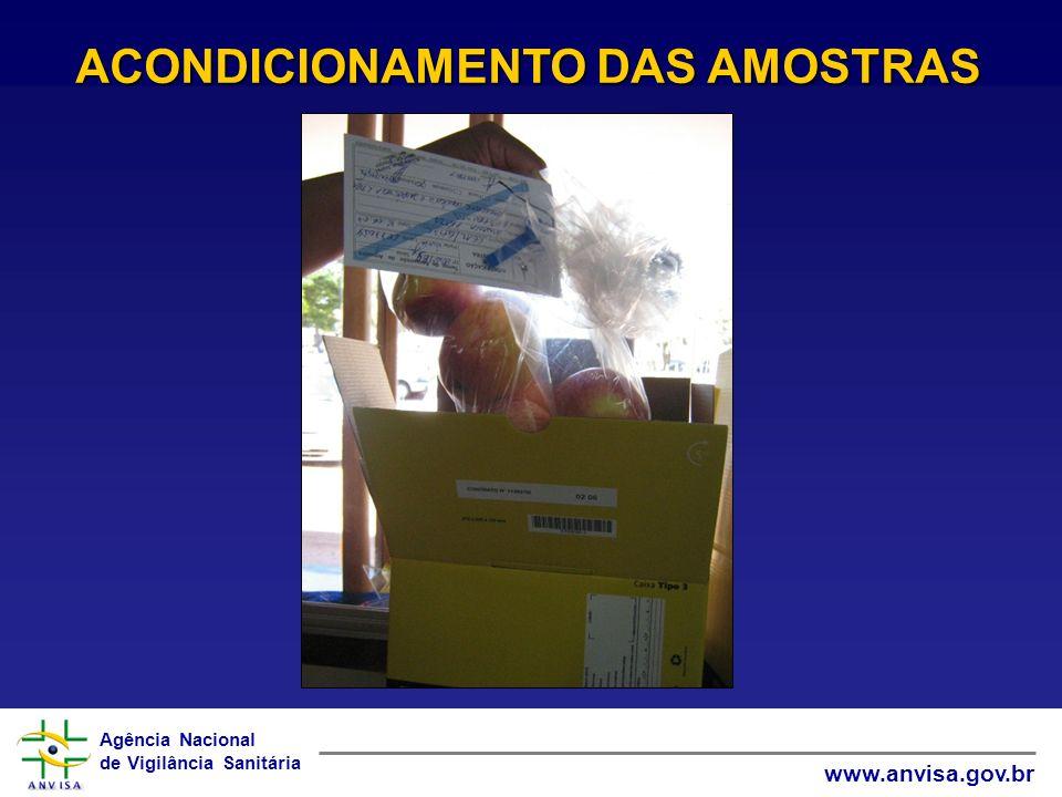 Agência Nacional de Vigilância Sanitária www.anvisa.gov.br ACONDICIONAMENTO DAS AMOSTRAS