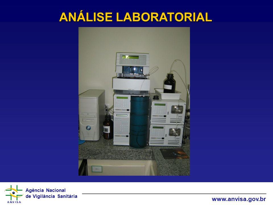Agência Nacional de Vigilância Sanitária www.anvisa.gov.br ANÁLISE LABORATORIAL