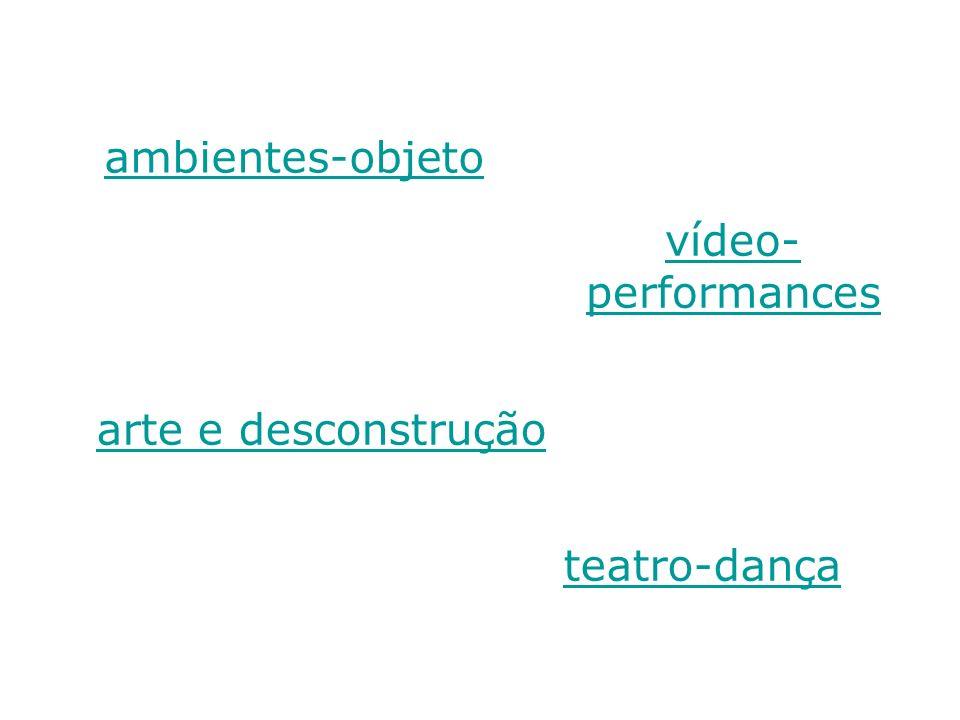 ambientes-objeto teatro-dança vídeo- performances arte e desconstrução