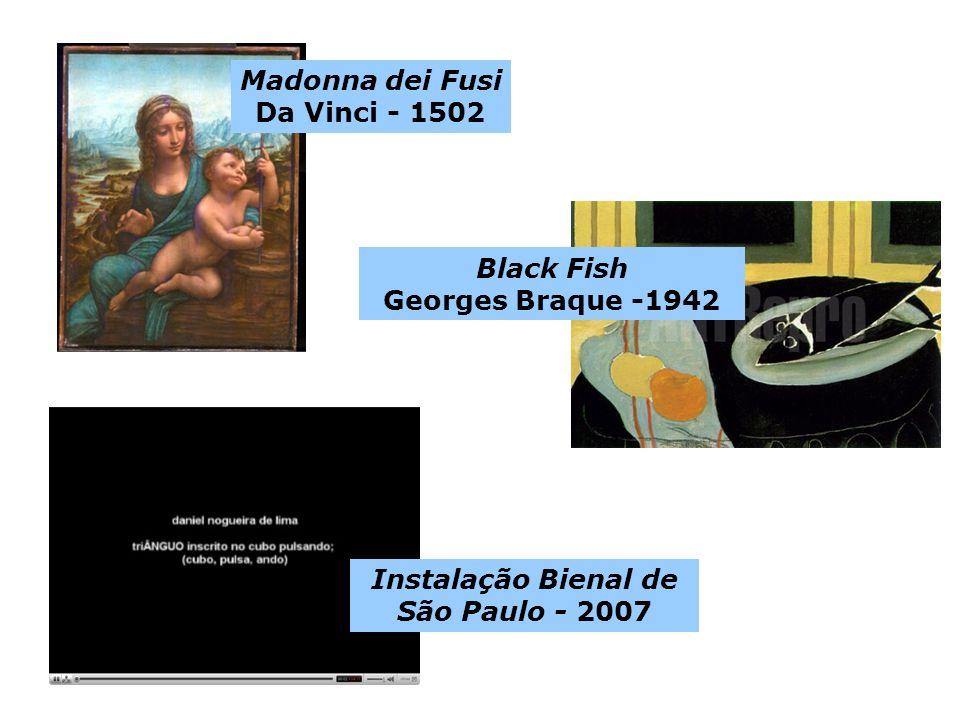 Black Fish Georges Braque -1942 Madonna dei Fusi Da Vinci - 1502 Instalação Bienal de São Paulo - 2007