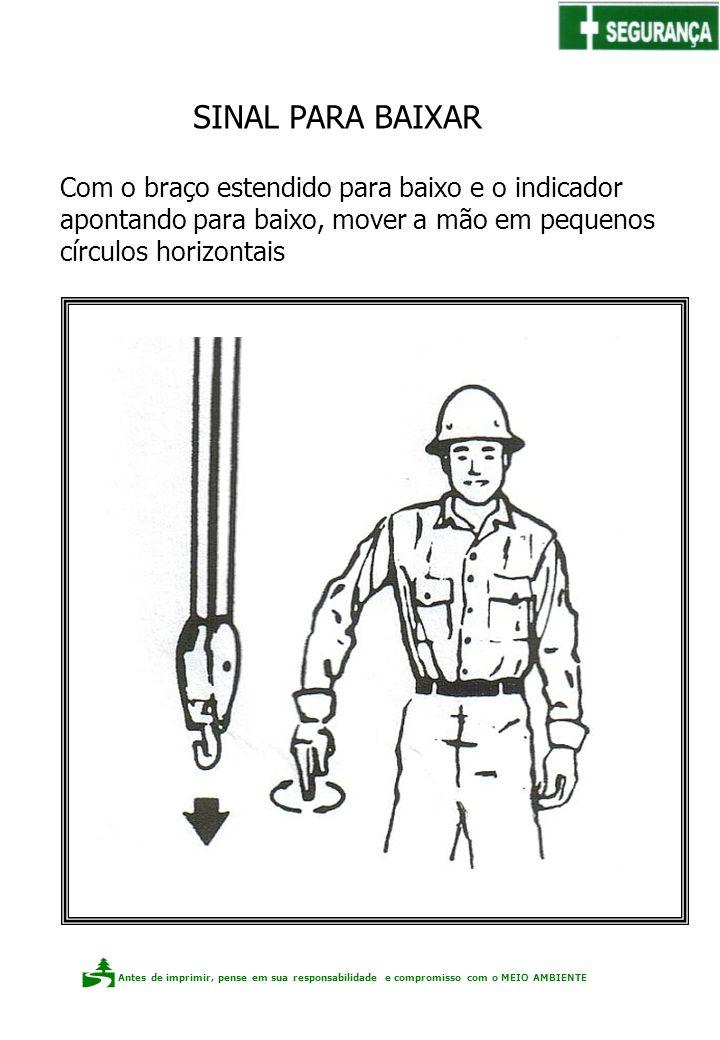 Antes de imprimir, pense em sua responsabilidade e compromisso com o meio ambiente Elaboração: Claudio F.P. dos Santos Com o braço estendido para baix