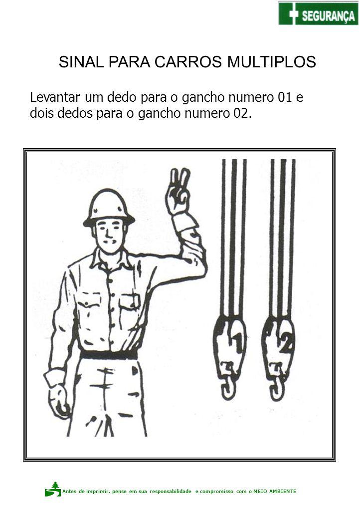 Antes de imprimir, pense em sua responsabilidade e compromisso com o meio ambiente Elaboração: Claudio F.P. dos Santos Levantar um dedo para o gancho