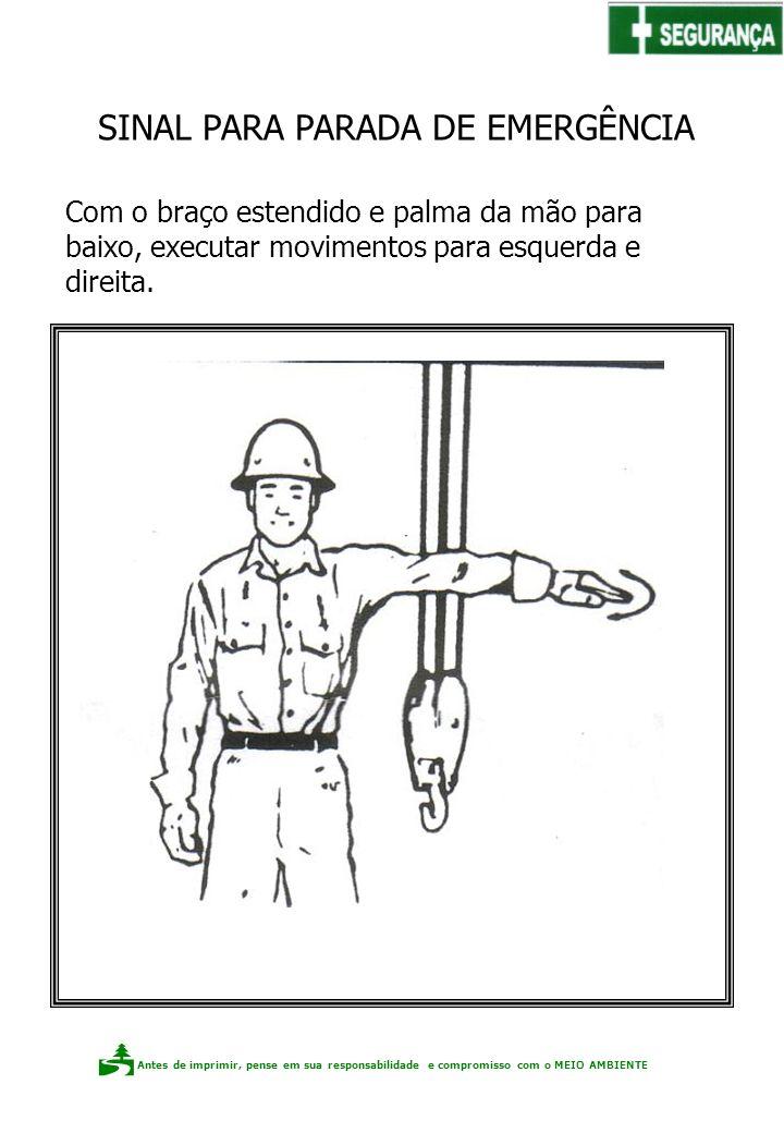 Antes de imprimir, pense em sua responsabilidade e compromisso com o meio ambiente Elaboração: Claudio F.P. dos Santos Com o braço estendido e palma d