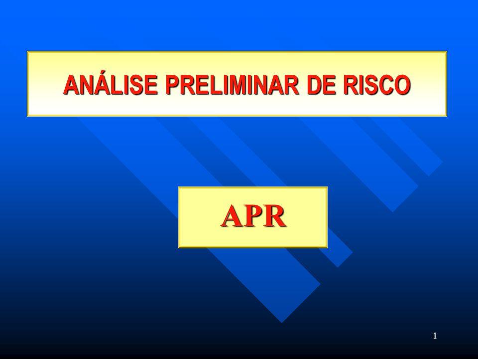 1 ANÁLISE PRELIMINAR DE RISCO APR