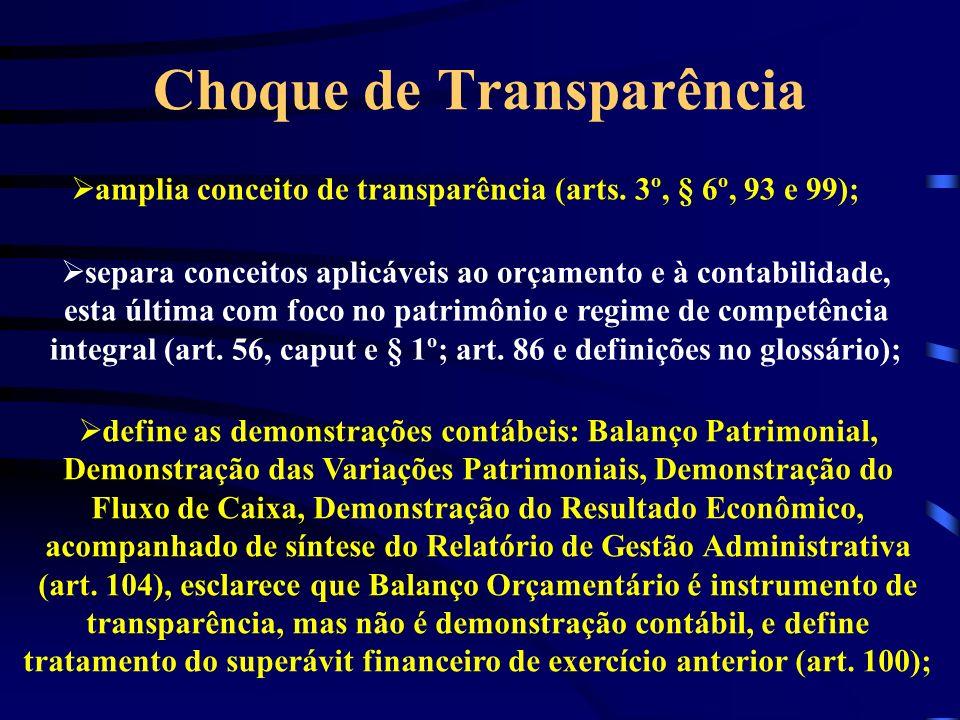 Choque de Transparência amplia conceito de transparência (arts.