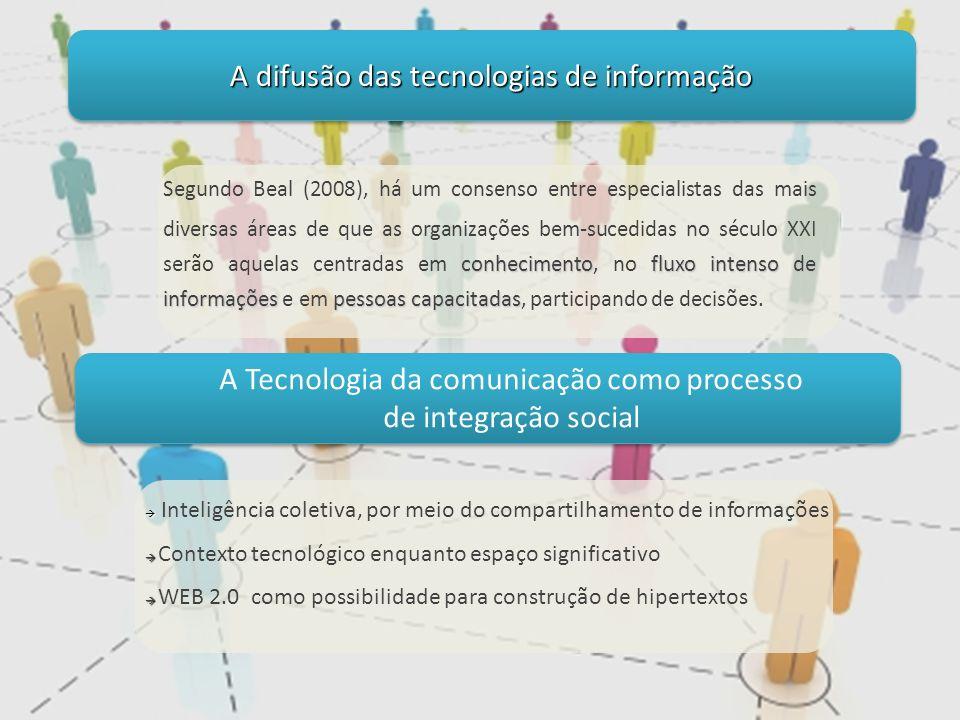 conhecimentofluxo intenso de informações pessoas capacitadas Segundo Beal (2008), há um consenso entre especialistas das mais diversas áreas de que as