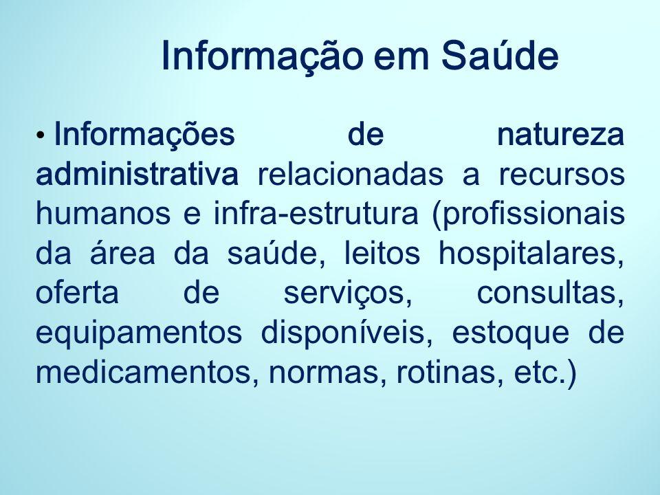 Principais objetivos: Promover a disponibilidade adequada e oportuna de dados básicos, indicadores e análises sobre as condições de saúde e suas tendências no País